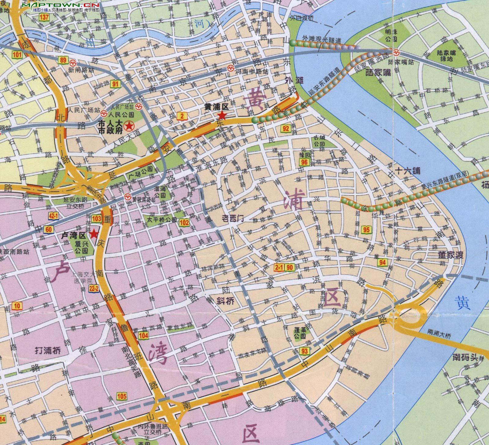 地图名称:上海最新市区地图图片